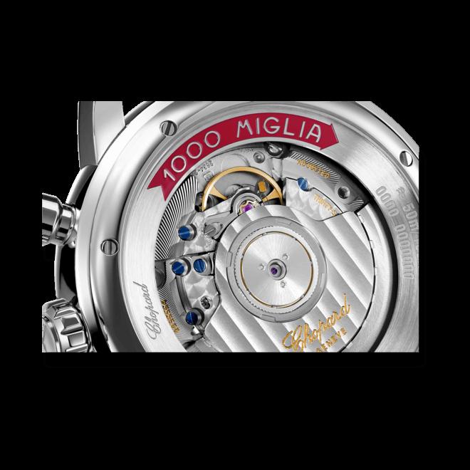 Herrenuhr Chopard Mille Miglia Classic Chronograph mit schwarzem Zifferblatt und Kautschukarmband