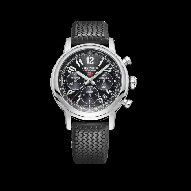 Herrenuhr Chopard Mille Miglia Classic Chronograph mit schwarzem Zifferblatt und Kautschukarmband bei Brogle