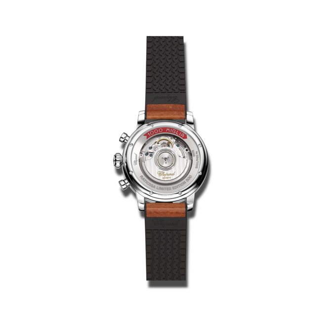 Herrenuhr Chopard Mille Miglia Classic Chronograph Raticosa mit beigefarbenem Zifferblatt und Kalbsleder-Armband bei Brogle