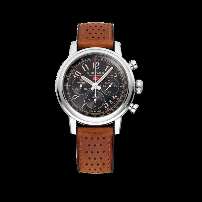 Herrenuhr Chopard Mille Miglia Classic Chronograph Raticosa mit schwarzem Zifferblatt und Kalbsleder-Armband bei Brogle