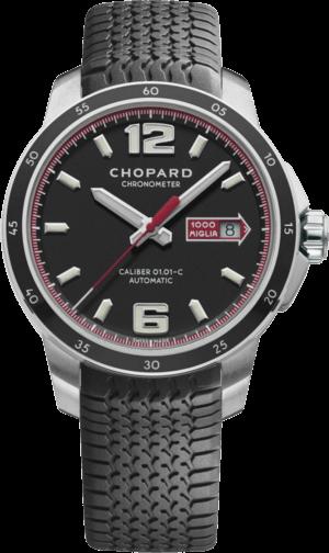 Herrenuhr Chopard Mille Miglia GTS Automatic mit schwarzem Zifferblatt und Kautschukarmband