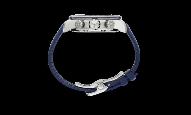 Herrenuhr Chopard Mille Miglia GTS Azzurro Chrono mit blauem Zifferblatt und Kalbsleder-Armband bei Brogle