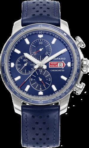 Herrenuhr Chopard Mille Miglia GTS Azzurro Chrono mit blauem Zifferblatt und Kalbsleder-Armband