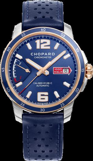 Herrenuhr Chopard Mille Miglia GTS Azzurro Power Control mit blauem Zifferblatt und Kalbsleder-Armband