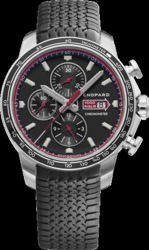 Herrenuhr Chopard Mille Miglia GTS Chrono mit schwarzem Zifferblatt und Kautschukarmband