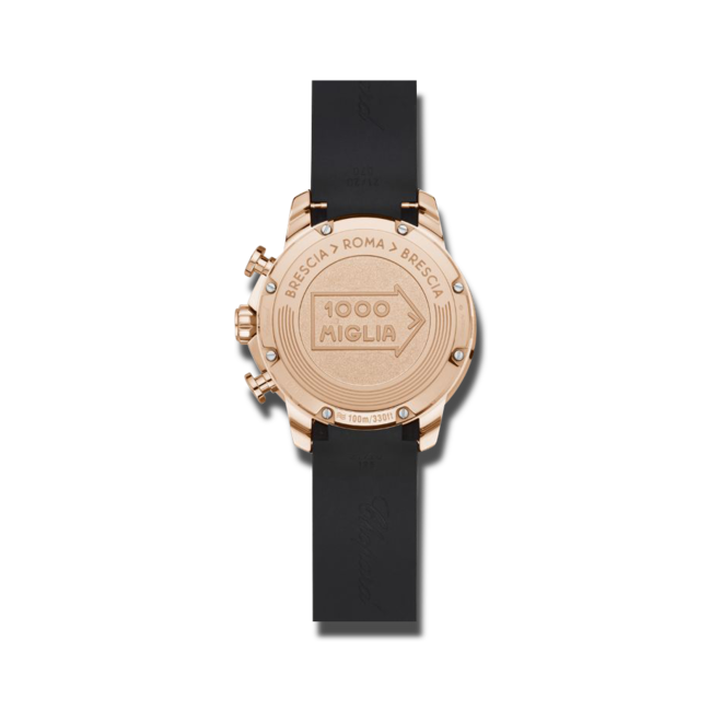 Herrenuhr Chopard Mille Miglia GTS Chronograph mit schwarzem Zifferblatt und Kautschukarmband bei Brogle
