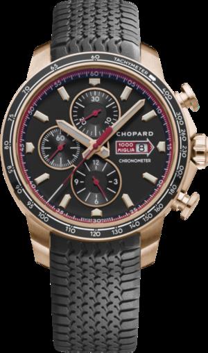 Herrenuhr Chopard Mille Miglia GTS Chronograph mit schwarzem Zifferblatt und Kautschukarmband