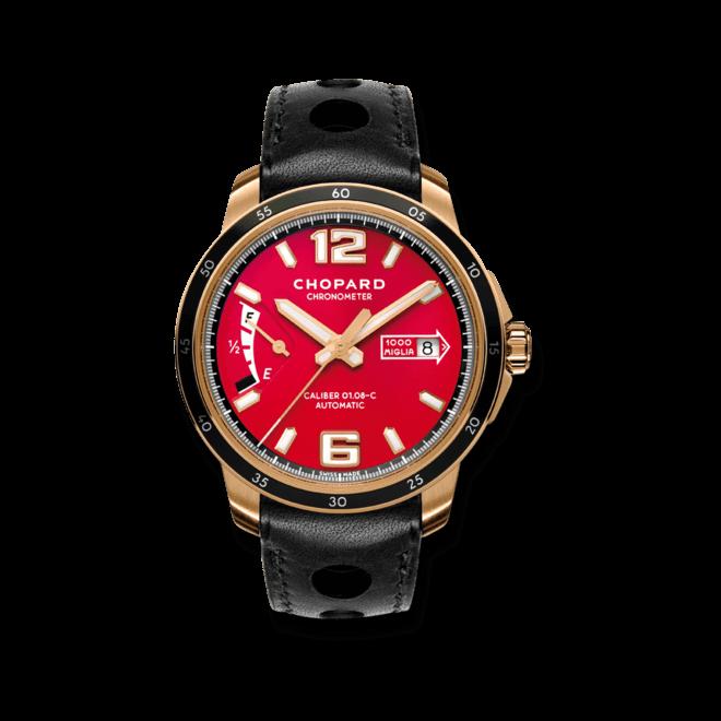 Herrenuhr Chopard Mille Miglia GTS Power Control mit rotem Zifferblatt und Kalbsleder-Armband