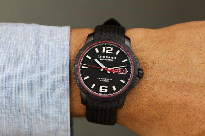 Herrenuhr Chopard Mille Miglia GTS Speed Black mit schwarzem Zifferblatt und Kautschukarmband bei Brogle