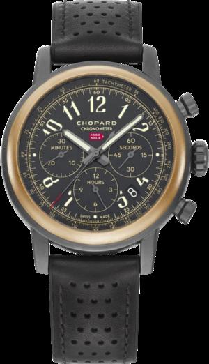 Herrenuhr Chopard Mille Miglia Race Edition COSC, Limited Edition mit schwarzem Zifferblatt und Kalbsleder-Armband