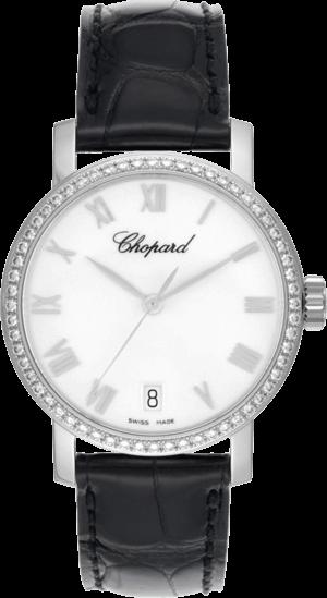 Damenuhr Chopard Classic Automatik mit weißem Zifferblatt und Alligatorenleder-Armband