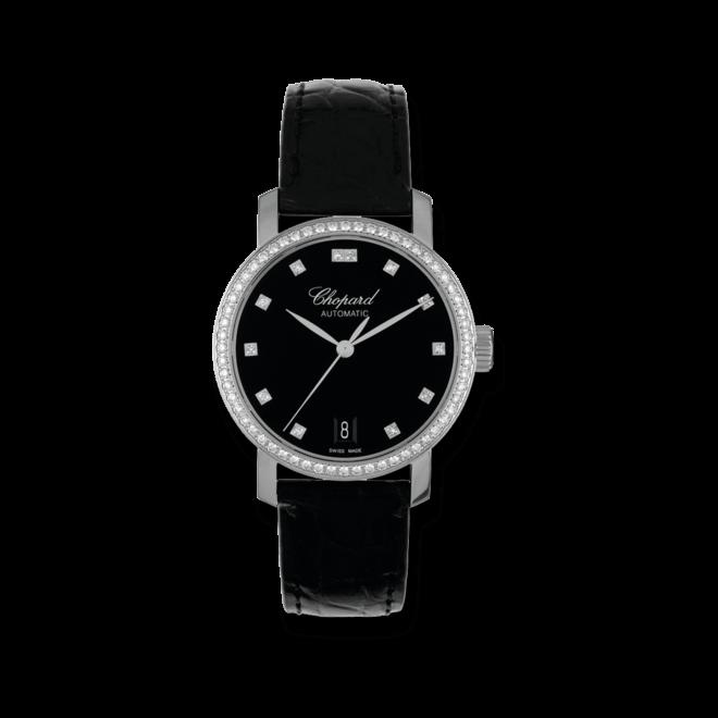 Damenuhr Chopard Classic Automatik mit schwarzem Zifferblatt und Alligatorenleder-Armband bei Brogle
