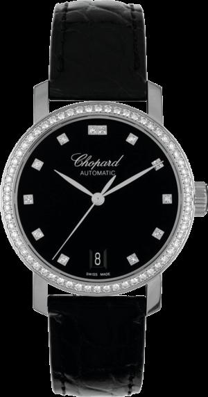 Damenuhr Chopard Classic Automatik mit schwarzem Zifferblatt und Alligatorenleder-Armband
