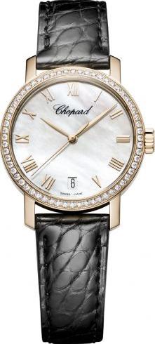 Damenuhr Chopard Classic Automatik mit perlmuttfarbenem Zifferblatt und Alligatorenleder-Armband
