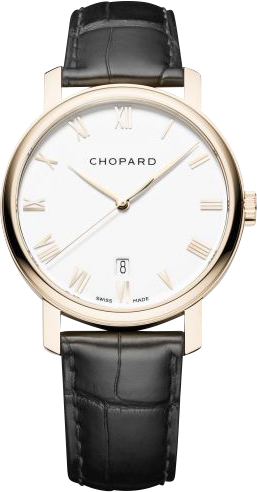 Herrenuhr Chopard Classic Automatik mit weißem Zifferblatt und Alligatorenleder-Armband