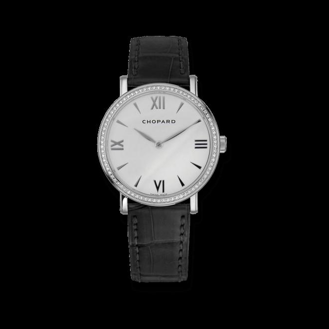 Damenuhr Chopard Classic Handaufzug mit weißem Zifferblatt und Alligatorenleder-Armband bei Brogle