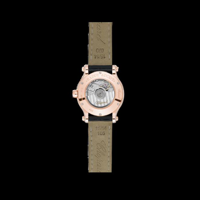 Damenuhr Chopard Happy Sport Mini Automatik mit Diamanten, perlmuttfarbenem Zifferblatt und Alligatorenleder-Armband bei Brogle