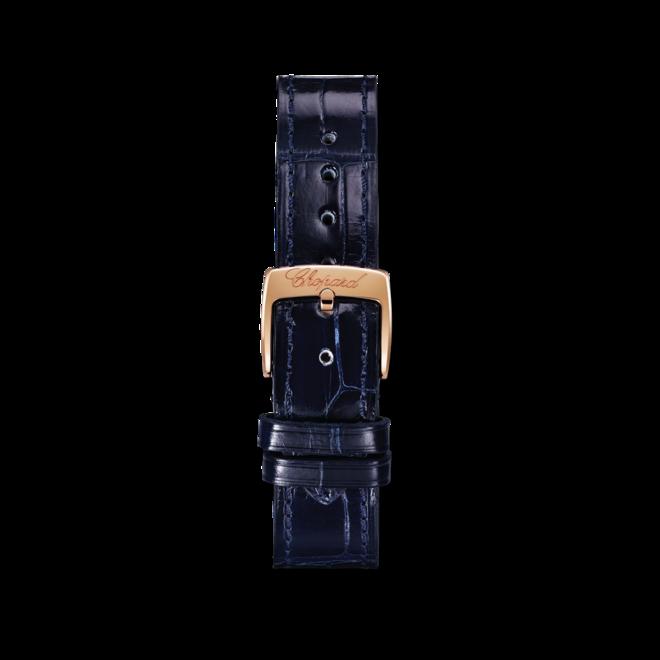 Damenuhr Chopard Happy Sport Automatik mit Diamanten, silberfarbenem Zifferblatt und Alligatorenleder-Armband bei Brogle
