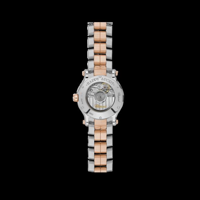 Damenuhr Chopard Happy Sport Automatik 30mm mit Diamanten, perlmuttfarbenem Zifferblatt und Edelstahlarmband bei Brogle