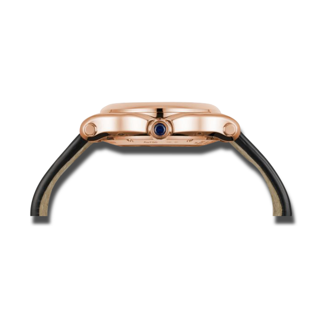 Damenuhr Chopard Happy Sport Medium Automatik mit Diamanten, champagnerfarbenem Zifferblatt und Alligatorenleder-Armband bei Brogle