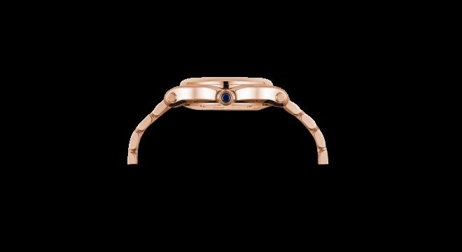 Damenuhr Chopard Happy Sport Medium Automatik mit Diamanten, weißem Zifferblatt und Roségoldarmband bei Brogle
