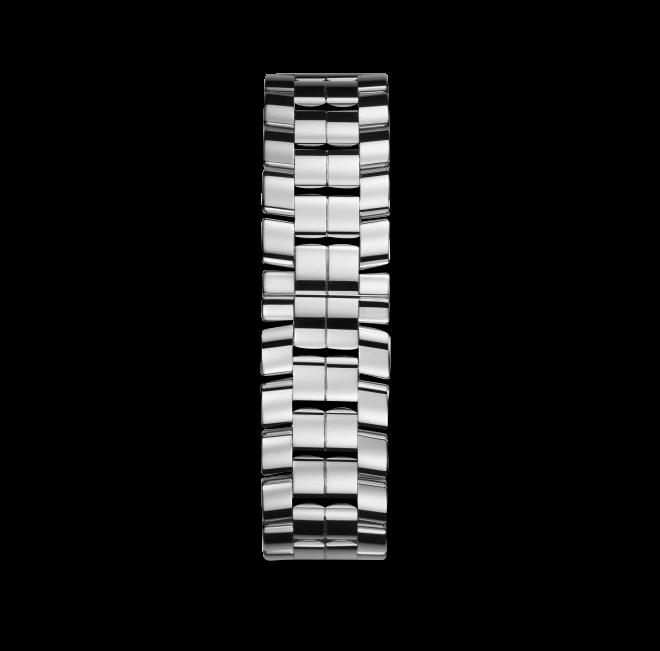 Damenuhr Chopard Happy Sport Medium Automatik mit Diamanten, weißem Zifferblatt und Edelstahlarmband bei Brogle