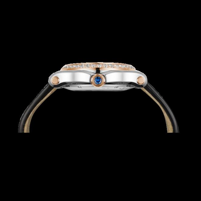 Damenuhr Chopard Happy Sport Medium Automatik mit Diamanten, weißem Zifferblatt und Alligatorenleder-Armband bei Brogle