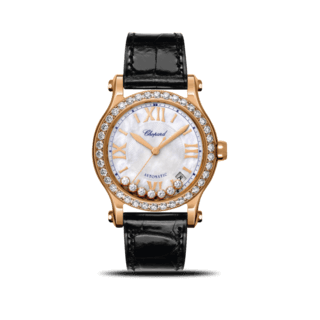 Chopard Damenuhr Happy Sport Medium Automatik 36mm 274808-5006