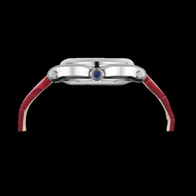 Damenuhr Chopard Happy Sport Medium Quarz mit Diamanten, weißem Zifferblatt und Alligatorenleder-Armband bei Brogle