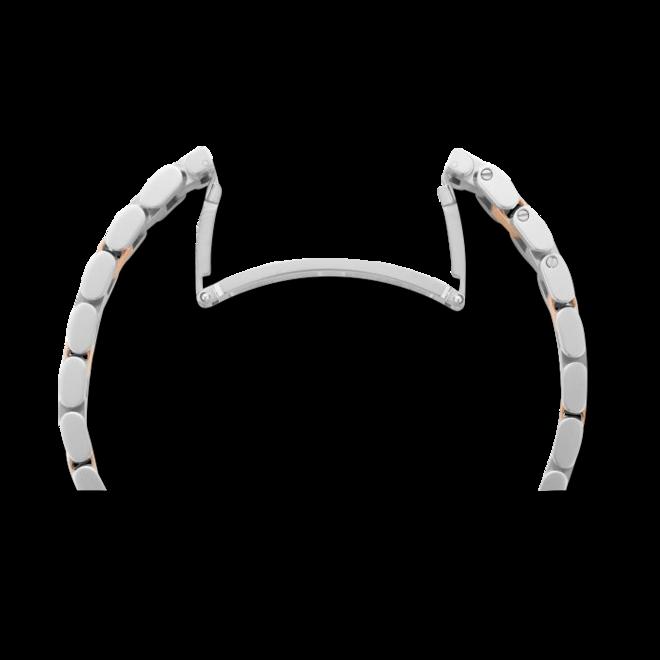 Damenuhr Chopard Happy Sport Medium Quarz mit Diamanten, weißem Zifferblatt und Edelstahlarmband bei Brogle