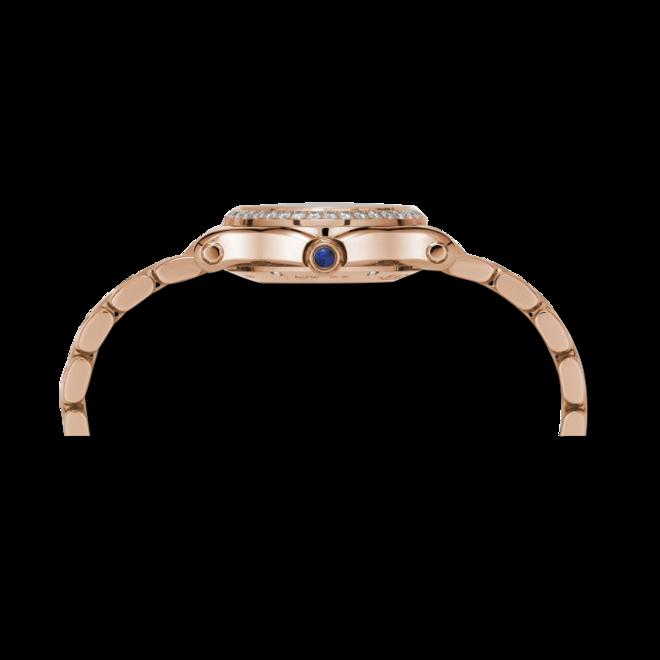 Damenuhr Chopard Happy Sport Mini Automatik mit Diamanten, silberfarbenem Zifferblatt und Roségoldarmband bei Brogle