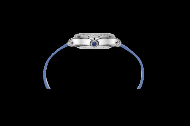 Damenuhr Chopard Happy Sport Mini Automatik mit Diamanten, Zifferblatt und Alligatorenleder-Armband bei Brogle
