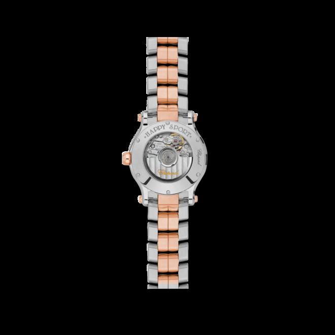 Damenuhr Chopard Happy Sport Mini Automatik mit Diamanten, silberfarbenem Zifferblatt und Edelstahlarmband bei Brogle