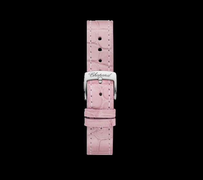 Damenuhr Chopard Happy Sport Mini Automatik mit Diamanten, roséfarbenem Zifferblatt und Alligatorenleder-Armband bei Brogle