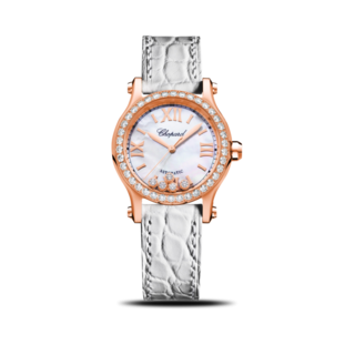 Chopard Damenuhr Happy Sport Mini Automatik Jubiläums Uhr 274893-5010