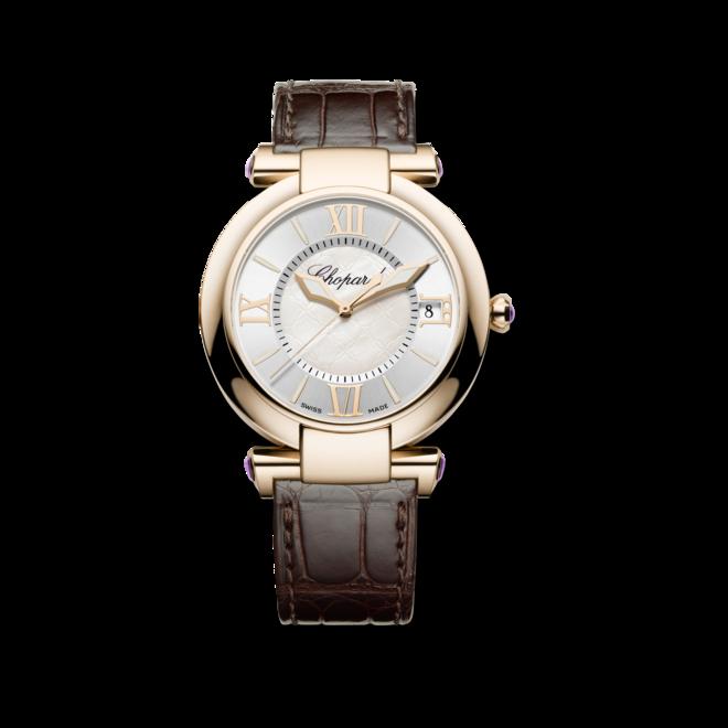 Damenuhr Chopard Imperiale Automatik mit perlmuttfarbenem Zifferblatt und Krokodilleder-Armband bei Brogle