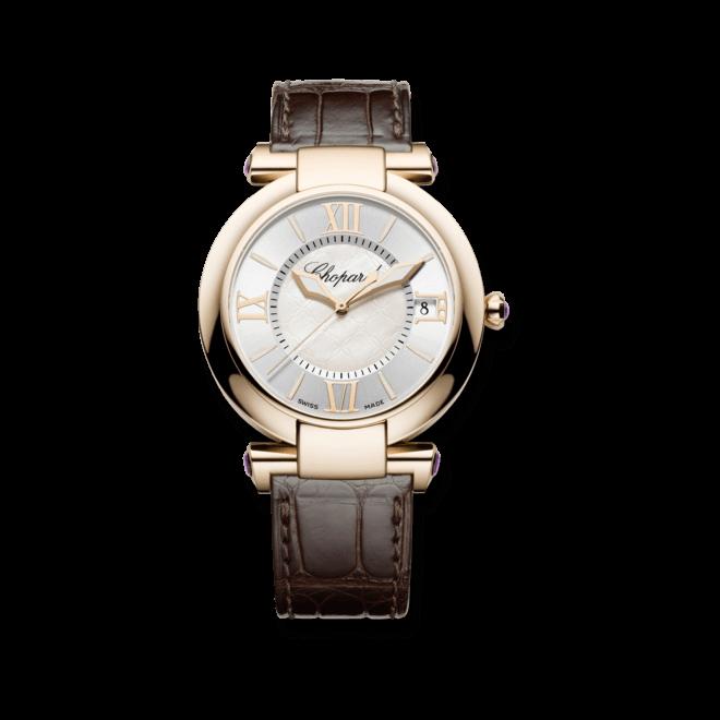 Damenuhr Chopard Imperiale Automatik mit perlmuttfarbenem Zifferblatt und Krokodilleder-Armband