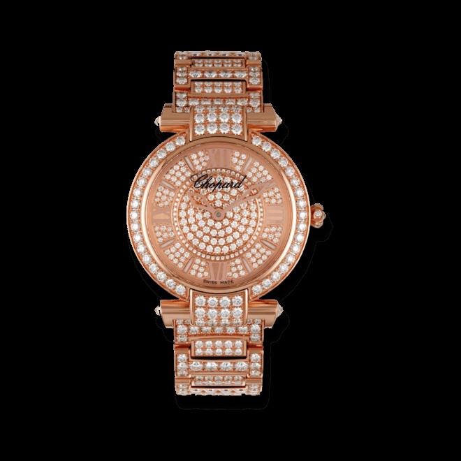 Damenuhr Chopard Imperiale Automatik mit Diamanten, silberfarbenem Zifferblatt und Roségoldarmband bei Brogle
