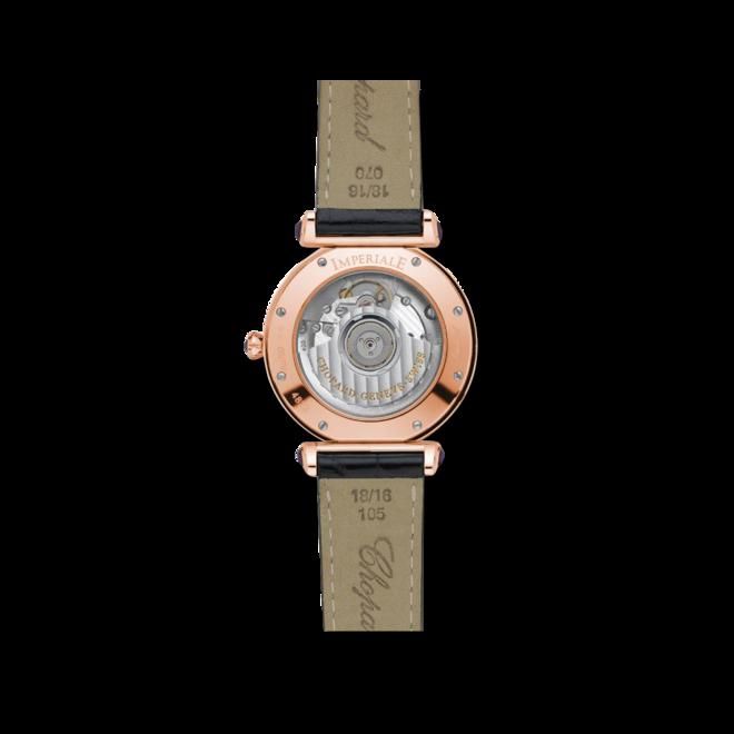 Damenuhr Chopard Imperiale Automatik mit Diamanten, silberfarbenem Zifferblatt und Krokodilleder-Armband bei Brogle