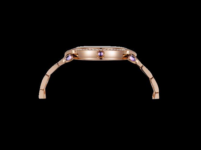 Damenuhr Chopard Imperiale Automatik mit Diamanten, weißem Zifferblatt und Roségoldarmband bei Brogle