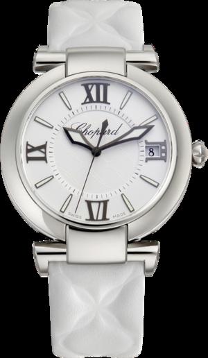 Damenuhr Chopard Imperiale Automatik mit weißem Zifferblatt und Kalbsleder-Armband