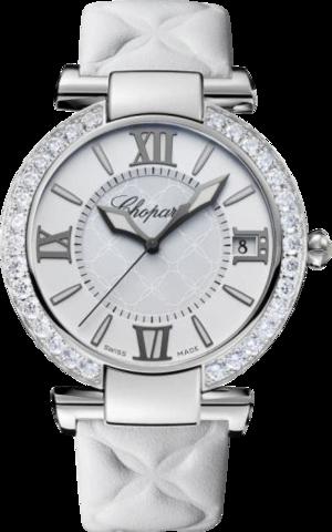 Damenuhr Chopard Imperiale Automatik mit perlmuttfarbenem Zifferblatt und Kalbsleder-Armband