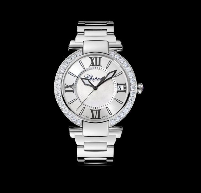 Damenuhr Chopard Imperiale Automatik mit Diamanten, perlmuttfarbenem Zifferblatt und Edelstahlarmband bei Brogle