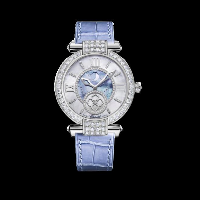 Damenuhr Chopard Imperiale Automatik Mondphase mit Diamanten, perlmuttfarbenem Zifferblatt und Krokodilleder-Armband bei Brogle