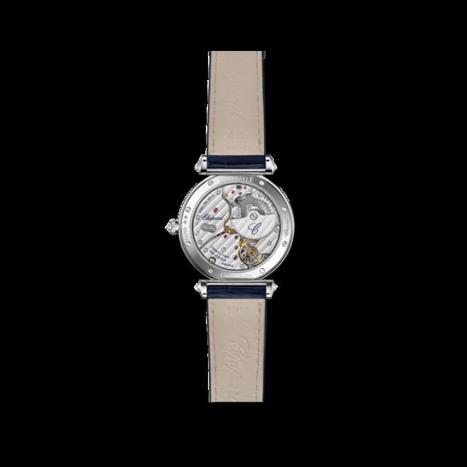 Damenuhr Chopard Imperiale Automatik Mondphase mit Diamanten, blauem Zifferblatt und Alligatorenleder-Armband bei Brogle