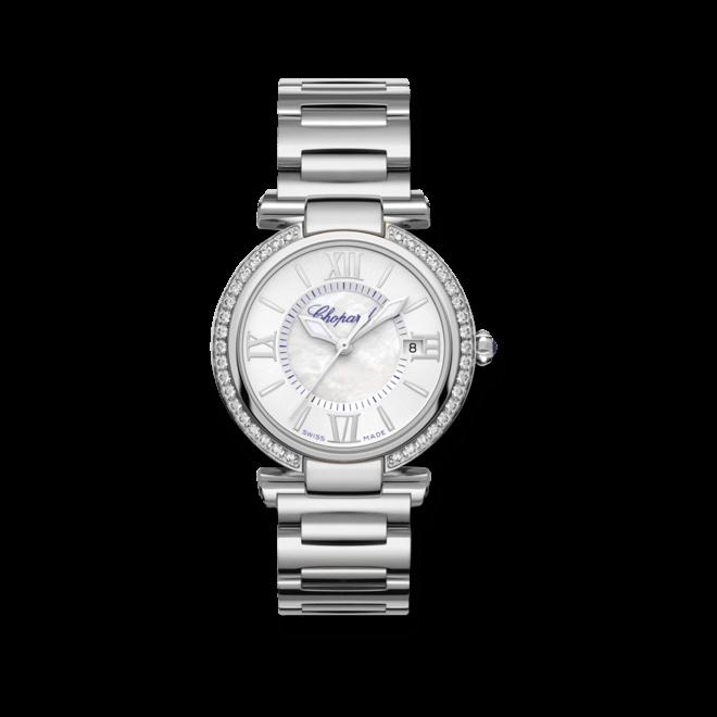 Damenuhr Chopard Imperiale Automatik mit Diamanten und perlmuttfarbenem Zifferblatt