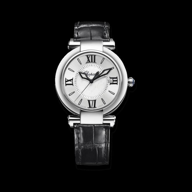 Damenuhr Chopard Imperiale Quarz 36mm mit weißem Zifferblatt und Krokodilleder-Armband