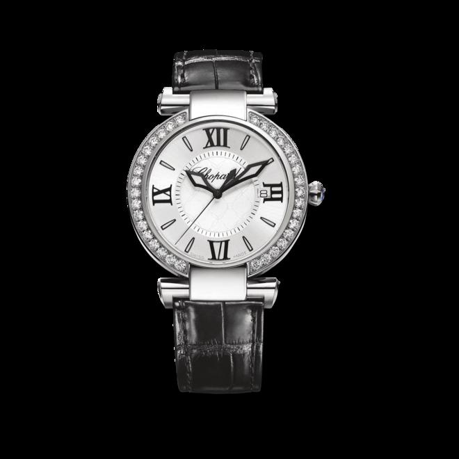 Damenuhr Chopard Imperiale Quarz mit Diamanten, weißem Zifferblatt und Krokodilleder-Armband bei Brogle