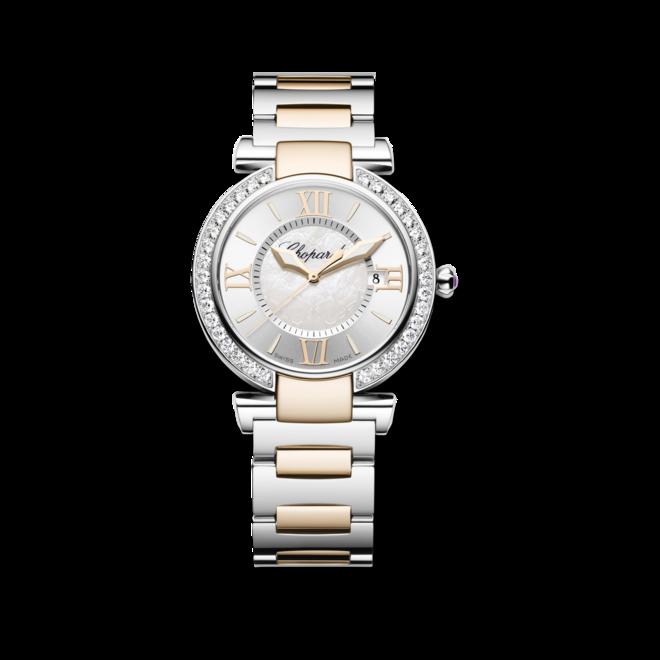 Damenuhr Chopard Imperiale Quarz mit Diamanten, weißem Zifferblatt und Edelstahlarmband bei Brogle