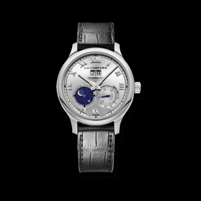 Herrenuhr Chopard Lunar Big Date mit silberfarbenem Zifferblatt und Alligatorenleder-Armband